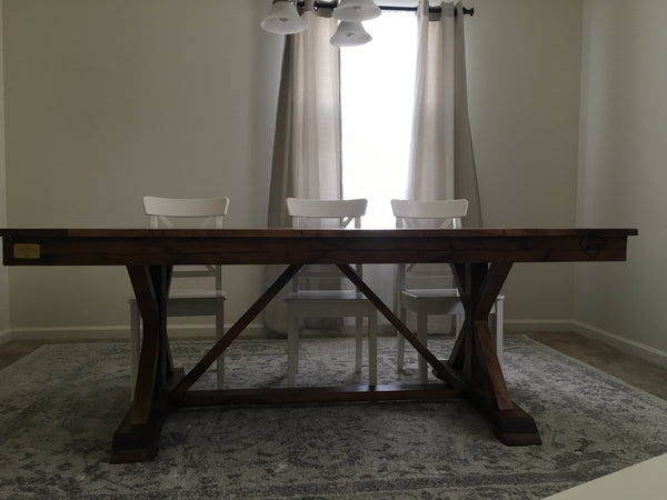 Fancy X Trestle Table