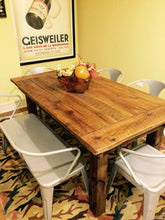 Load image into Gallery viewer, Farmhouse table made using reclaimed barn wood and rough cut wood. Wooden Whale Workshop Custom Woodwork, Butler, PA ready to ship and custom woodwork.Unique and beautiful. Great prices.