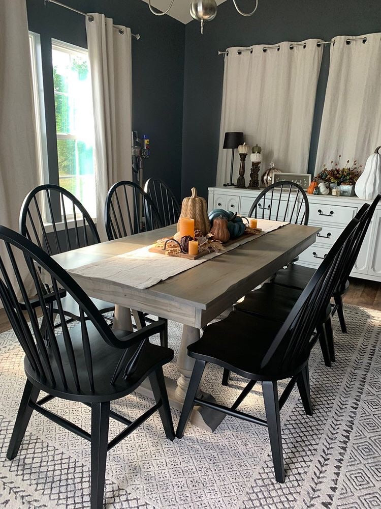 Double Pedestal Dinning Table