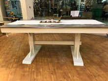 "Load image into Gallery viewer, 72""x36"" Trestle Dining Table- sold"