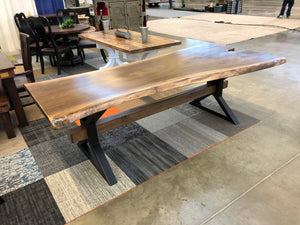 8 foot long walnut live edge table- sold