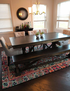 Fancy Trestle X Dining Table
