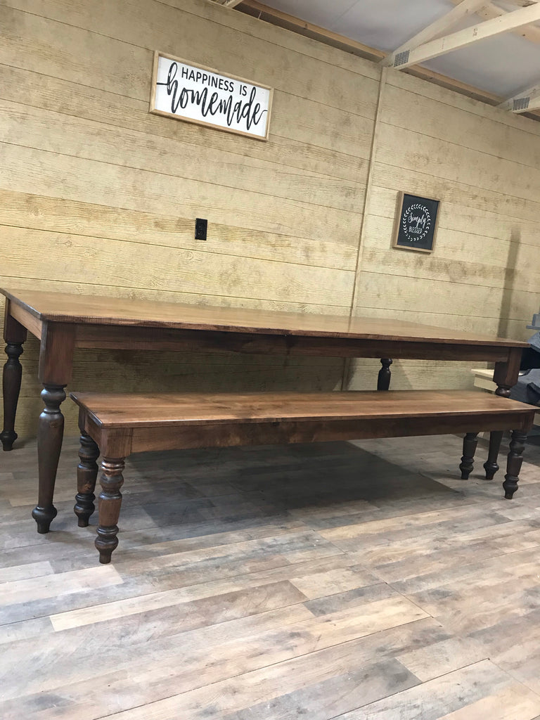 "Our standard benches are 16"" wide for stability and comfort and 18"" high to work well with our standard table height of 30"". Wooden Whale Workshop Custom Woodwork, Butler, PA ready to ship and custom woodwork.Unique and beautiful. Great prices."