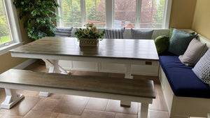 Trestle X Farmhouse Dining Table