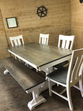 Load image into Gallery viewer, Trestle Farmhouse Dining Table