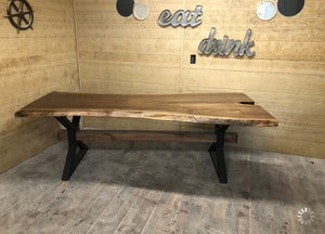 Metal X Beam Dining Table