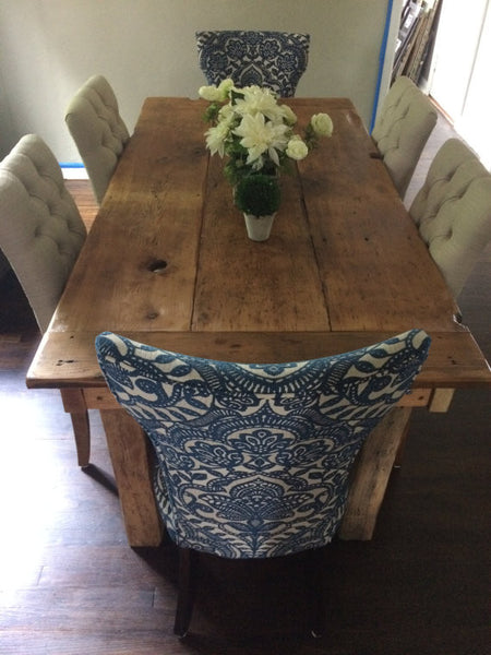Farmhouse Dining Table With Post Legs Wooden Whale