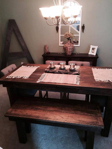 This Pub Height Farmhouse Table adds a very cool vibe that goes great with many different décor styles from rustic to eclectic. Wooden Whale Workshop Custom Woodwork ready to ship