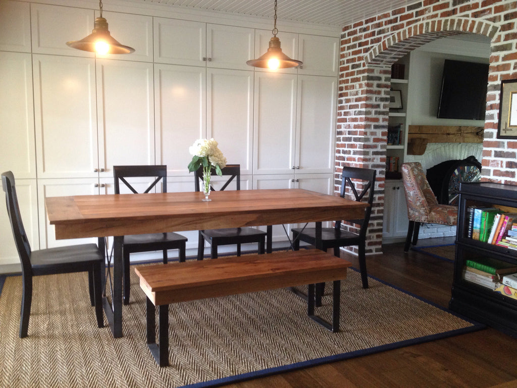 Rustic Industrial Dining Table Wooden Whale Workshop