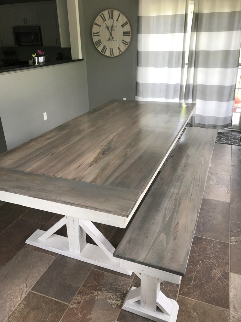 Trestle X Farmhouse Dining Table Wooden Whale Workshop