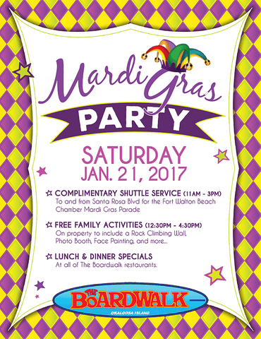 Mardi Gras Party at The Boardwalk 2017