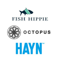 New Brands: hayn sandals, octopus traction, fish hippie