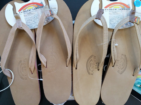 Authentic Rainbow Sandals Picture Islandsurf USA compared to China