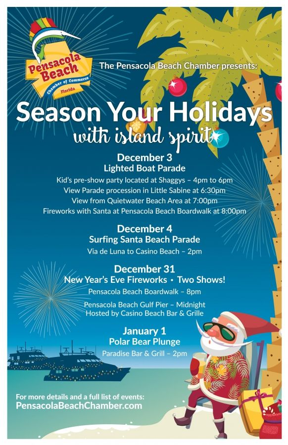 Annual Lighted Boat Parade 2016 in Pensacola Beach, FL | Islanders ...