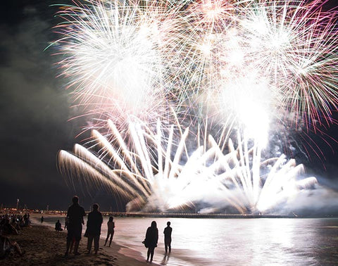 New Year\'s Eve Fireworks - Pensacola Beach Boardwalk 2016 ...