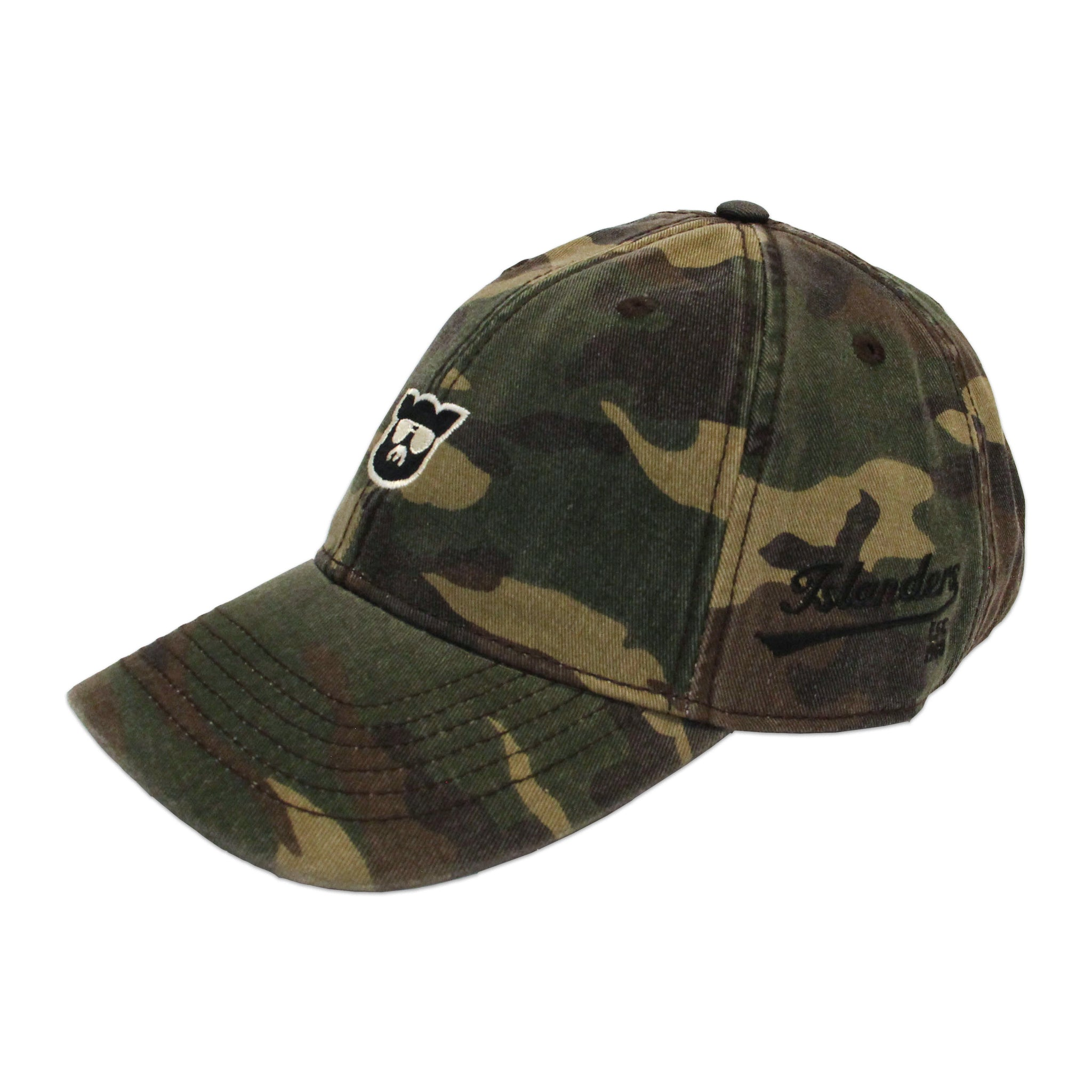 Islanders Pig Face Relaxed Twill Adjustable Camo Hat