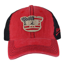 Load image into Gallery viewer, Islanders Pig Face American Flag Trucker Hat