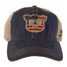 Load image into Gallery viewer, Islanders Pig Face American Flag Trucker Hat - Youth