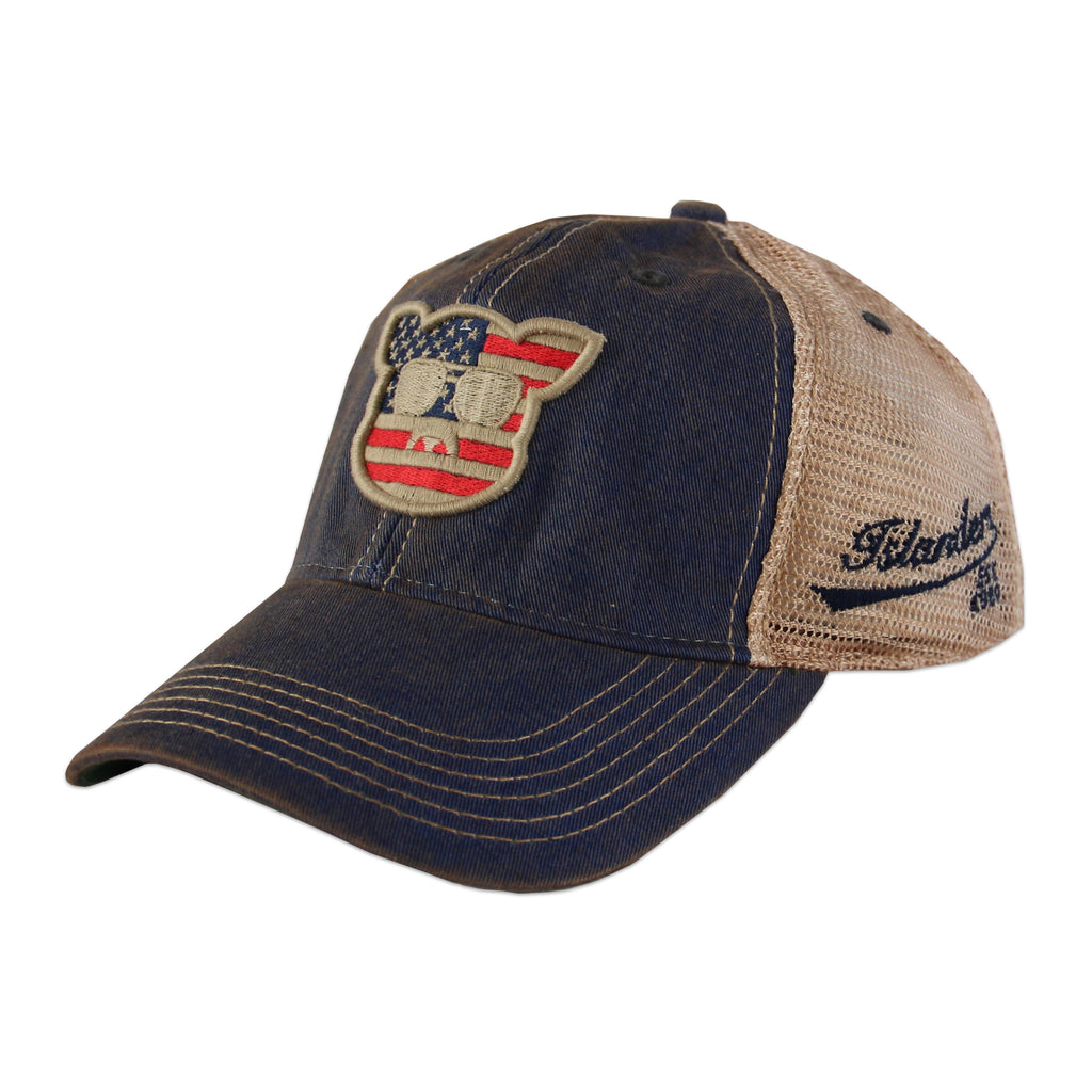 Islanders Pig Face American Flag Trucker Hat - Youth