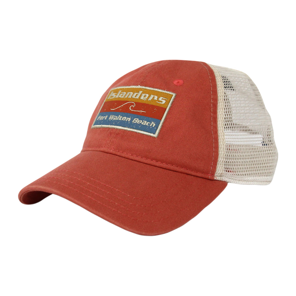 Islanders Distressed Fort Walton Beach Patch Low Crown Hat