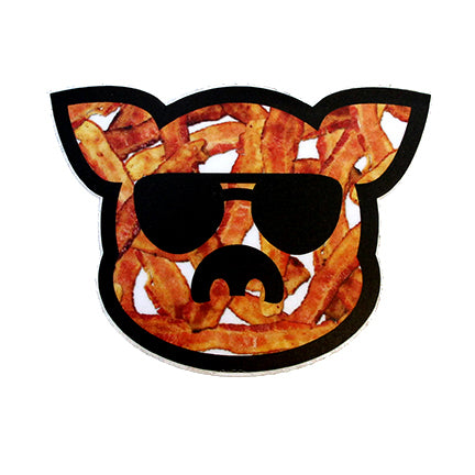 Islanders Bacon filled Pig Face Sticker