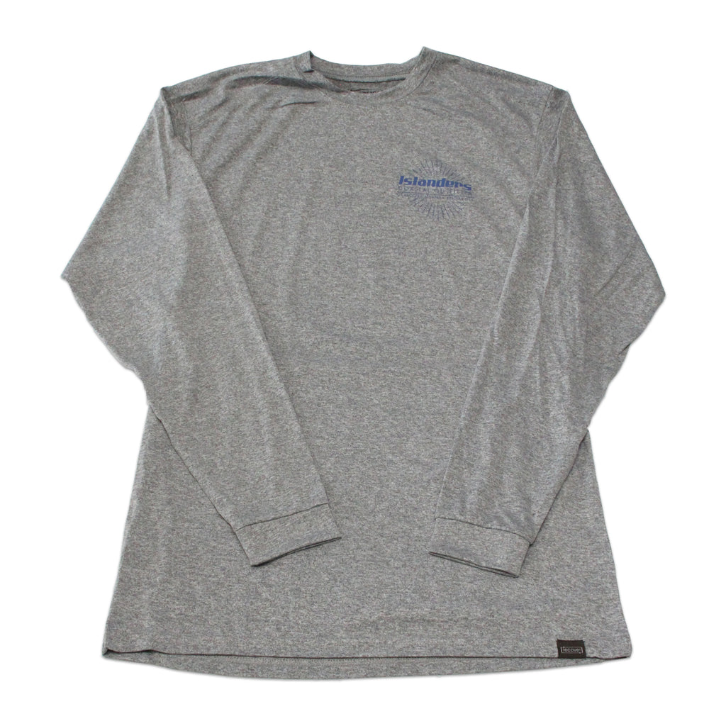 Islanders Earth is Our Only Island Long Sleeve Sun Shirt - Grey