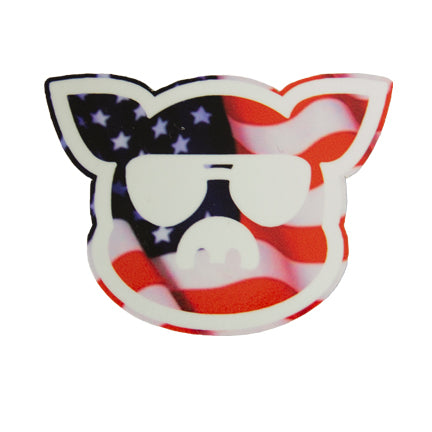 Islanders Flag filled Pig Face Sticker