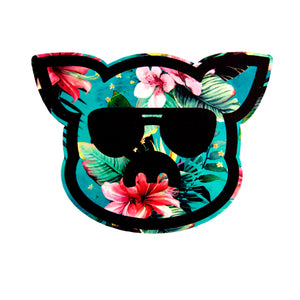 Islanders Floral filled Pig Face Sticker