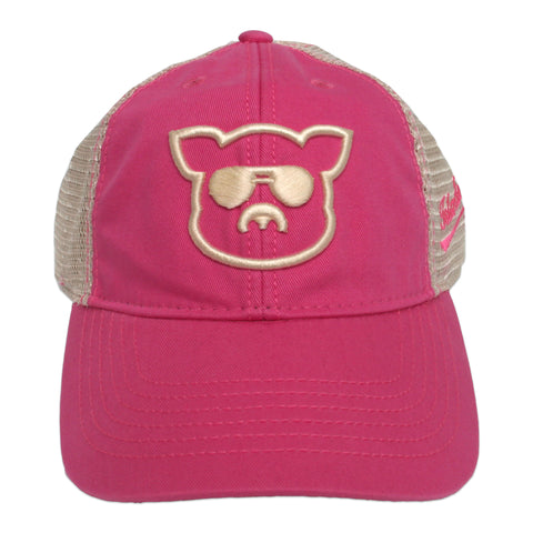 Islanders Pig Face Pink Trucker Hat - Youth