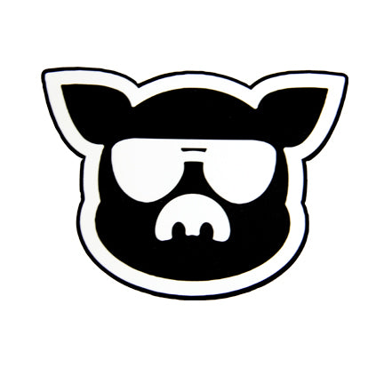 Islanders Black & White Pig Face Sticker