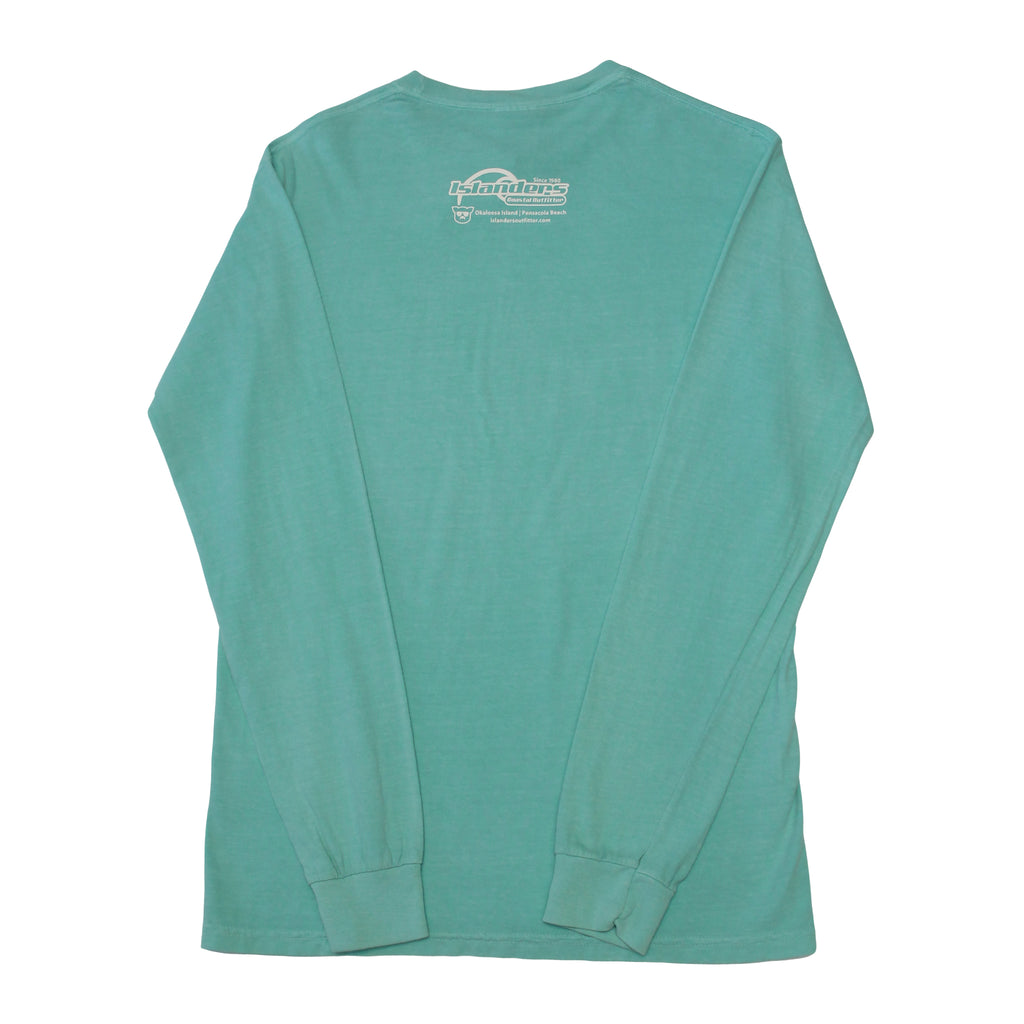 Islanders Pig Face Long Sleeve Comfort Colors T-Shirt - Chalky Mint