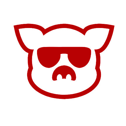 Islanders Red Pig Face Decal
