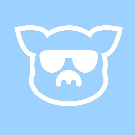 Islanders White Pig Face Decal