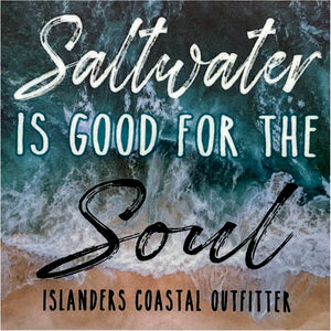 Saltwater is Good for the Soul Sticker