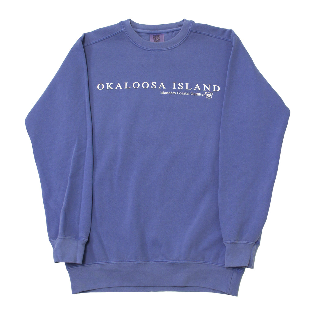 Islanders Simple Okaloosa Island Sweatshirt - Flo Blue