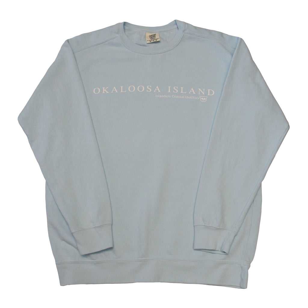 Islanders Simple Okaloosa Island Sweatshirt - Chambray