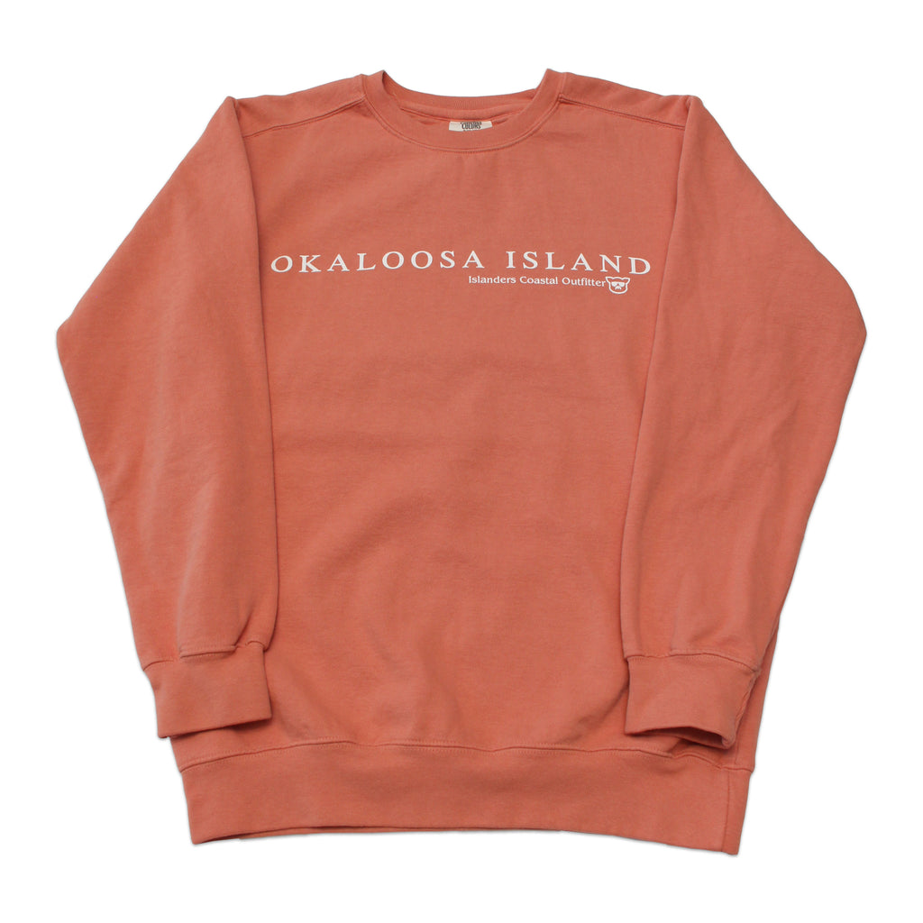 Islanders Simple Okaloosa Island Sweatshirt - Terracotta