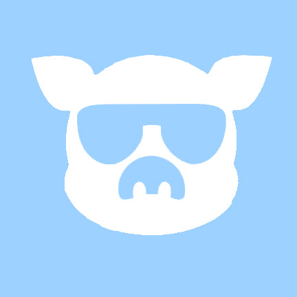 Islanders Large White Pig Face Decal