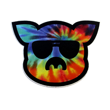 Islanders Tie Dye filled Pig Face Sticker