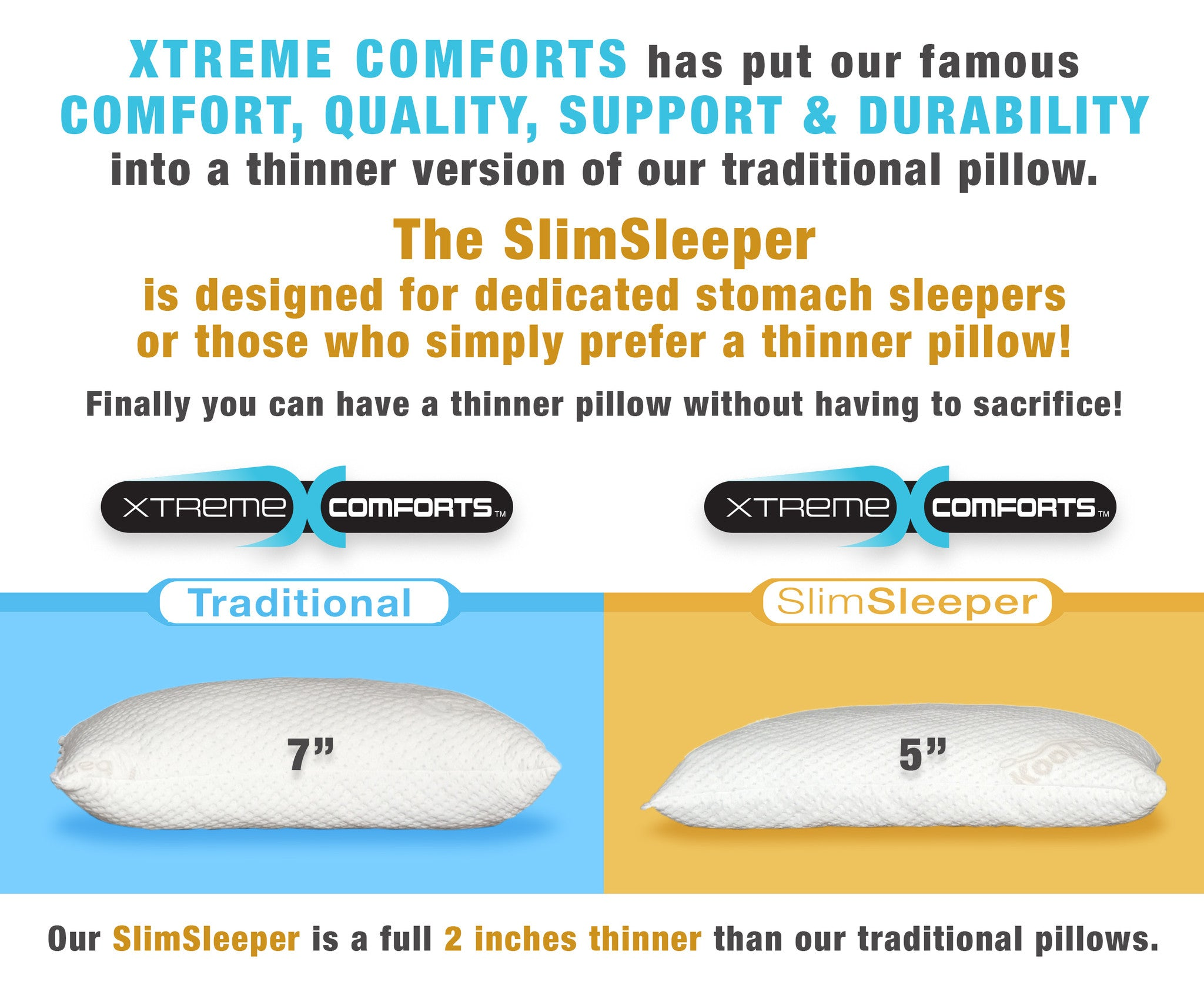 slimsleeper shredded memory foam pillow with bamboo cover