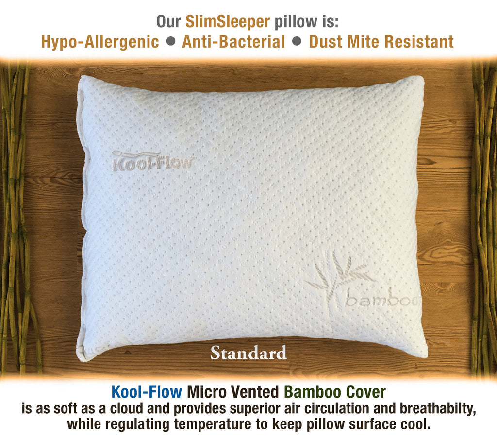 Shredded Memory Foam Pillow With Bamboo Cover Xtreme