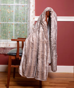 "Luxury Solid Mink Oversized Throw Blanket with Sherpa Back, 60"" x 80"""