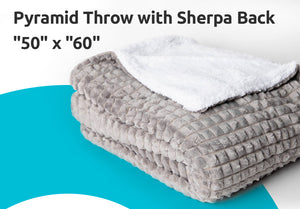 "Pyramid Throw with Sherpa Back ""50"" x ""60"""