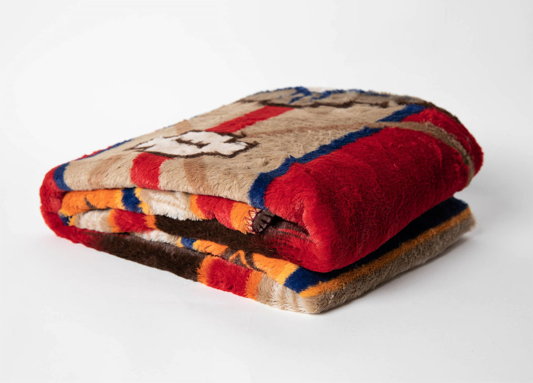 Southwestern Oversized Throw with Sherpa Back