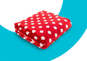 "Super Soft Polka Dot Oversized Throw, ""60"" x ""80"""