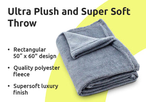 "Ultra Plush and Super Soft Throw ""50' x ""60"""