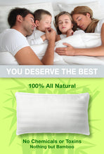 Load image into Gallery viewer, 100% Bamboo Pillow with adjustable thickness