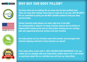 Body Pillow- Kool-Flow Bamboo Shredded Memory Foam