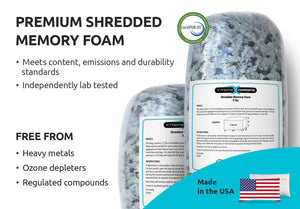 Shredded Memory Foam