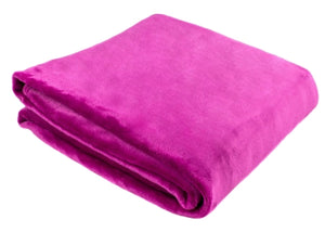 "Oversized Plush Solid Throw ""60"" x ""80"""